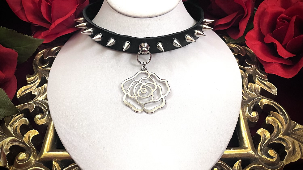 Spiked Rose Collar
