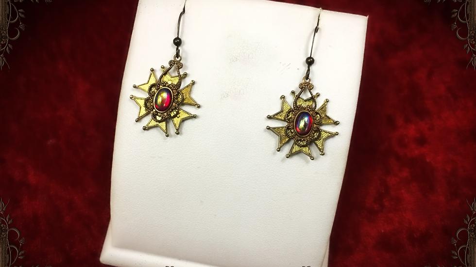 AB Ruby Medal Earrings