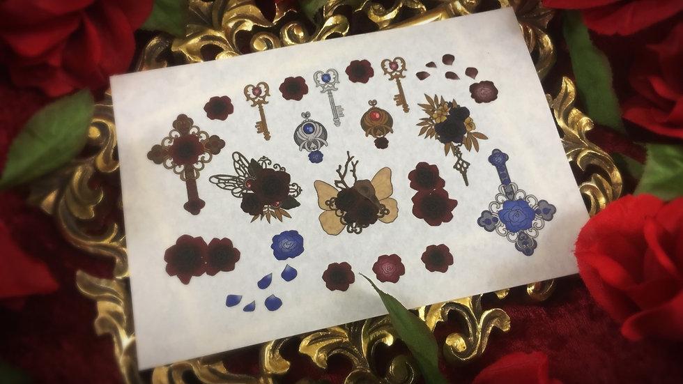 Puronpi x Necrosarium Sticker Sheet