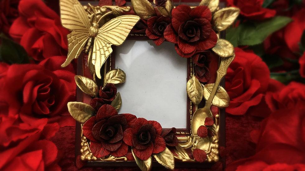 Butterfly Tea Garden Magnet Cheki Frame