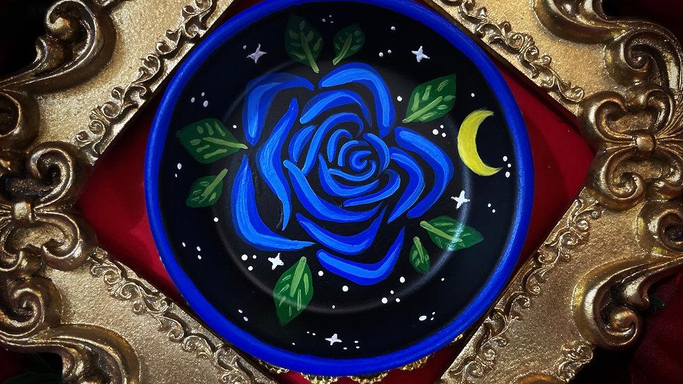 Starry Skies Rose Dish - Blue