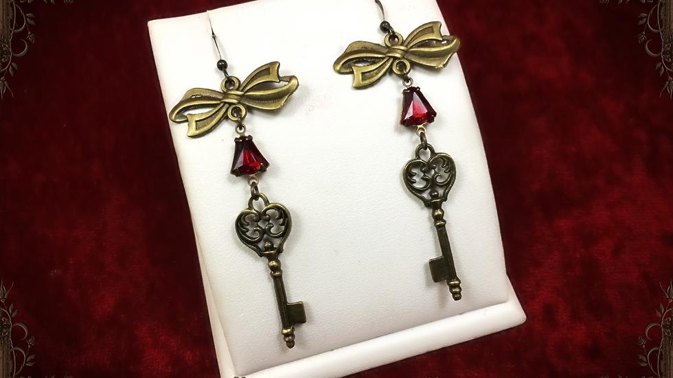 Key & Bow Earrings