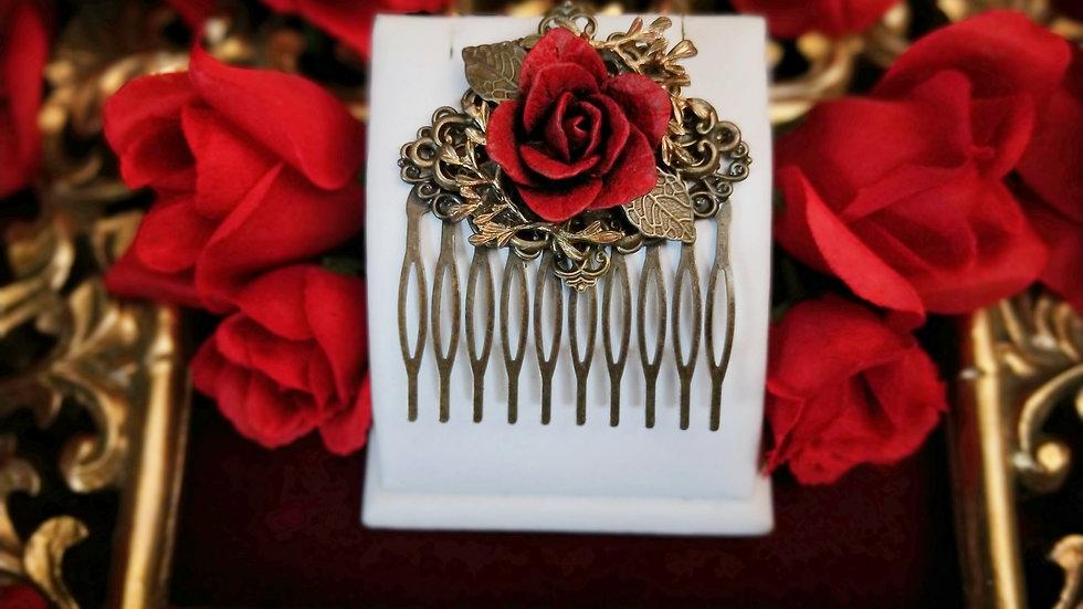 Rosarium Hair Comb - F2121