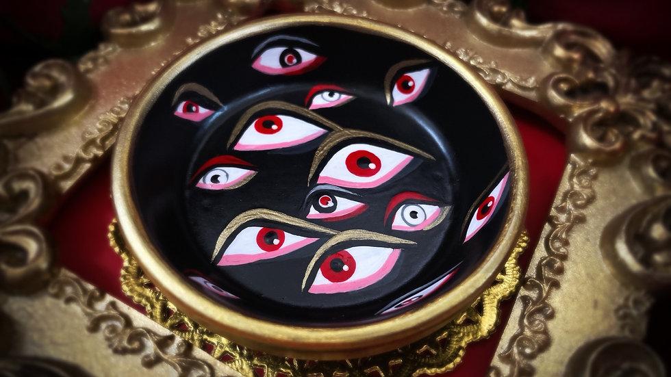 Red White & Gold Eyes Tray