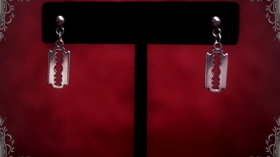 Razor Blade Earrings [Hanging Stud Type] ~Madmans Esprit~