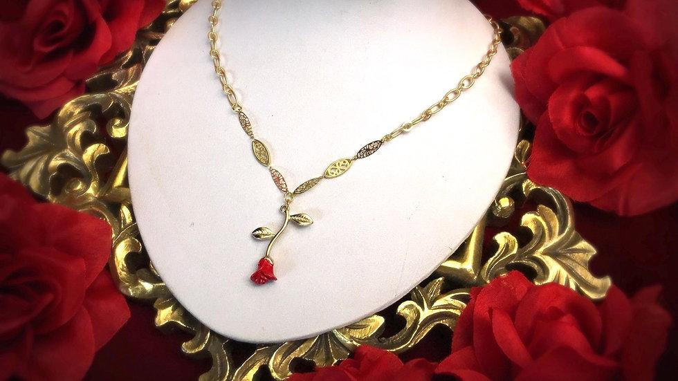 Hanging Rose Necklace