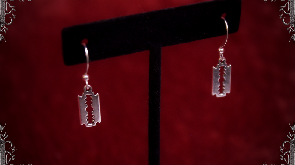 Razor Blade Earrings [Wire Hook Type] ~Madmans Esprit~
