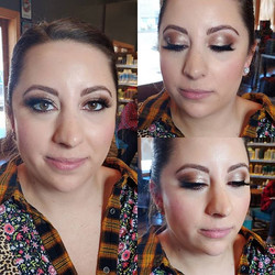 So fun doing a super glam look on one of