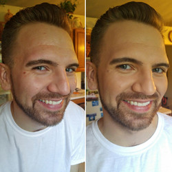 Men's makeup- Before and after