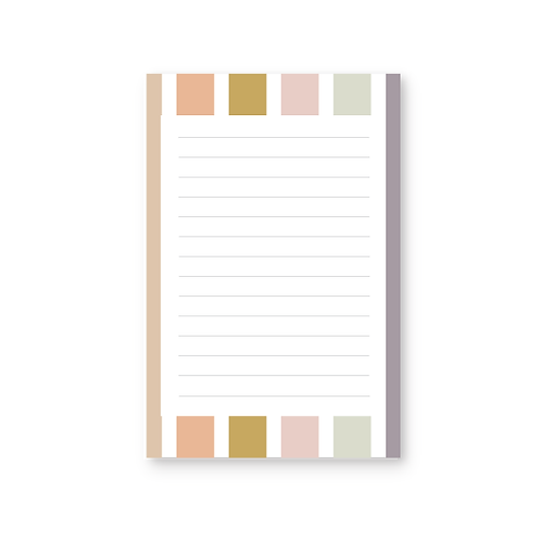 Vintage Stripe Notepad