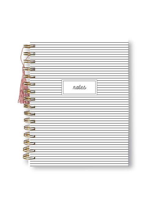 Wholesale Charcoal Striped Notebook