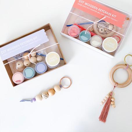 DIY Craft Kit- Wooden Bead Keychains