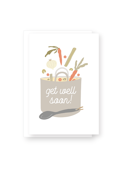 Get Well Soup Greeting Card