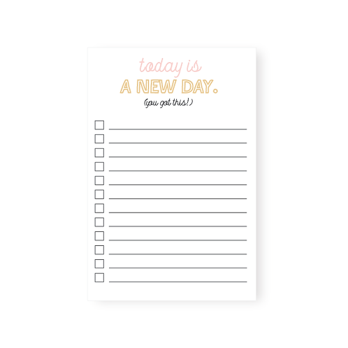 A New Day Notepad