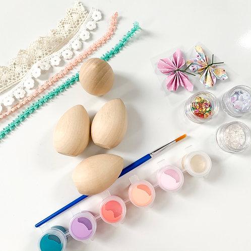 Wooden Egg Painting Kit