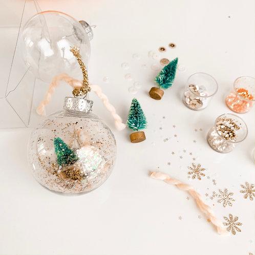 Whimsical Snow Globe DIY Ornament Craft Kit