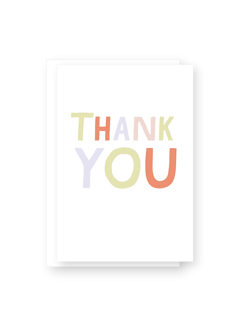Wholesale Thank You 2 Card Pack