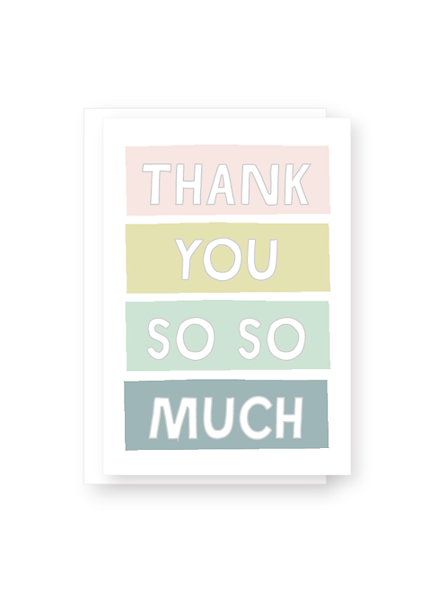 Wholesale Thank You So Much Greeting Card