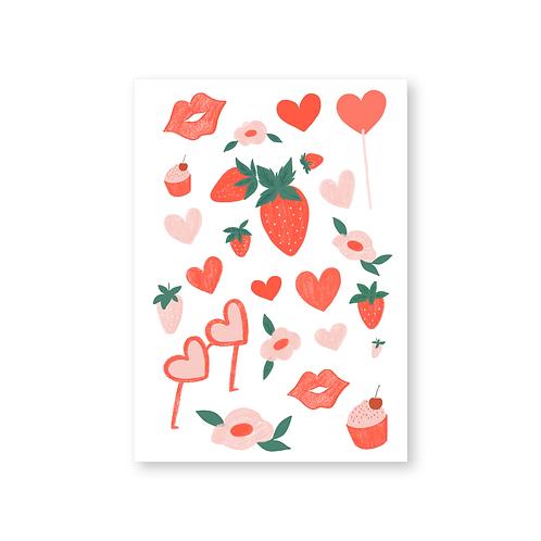Valentine Sticker Sheet