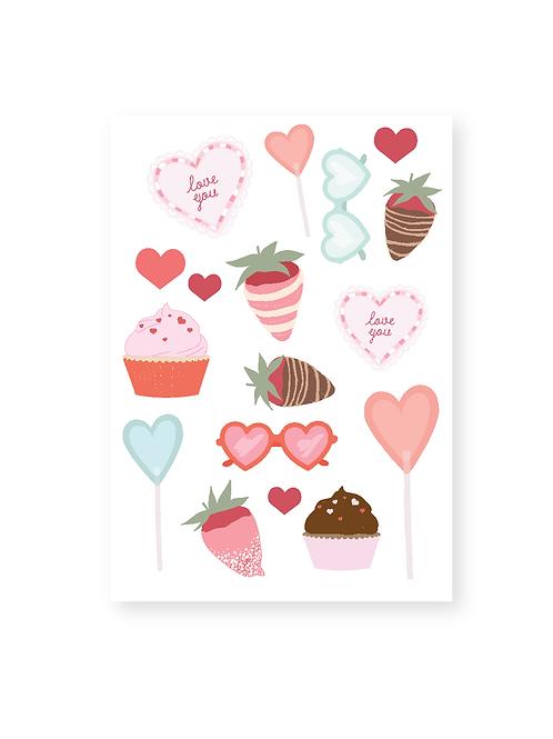 Sweetheart Sticker Sheets