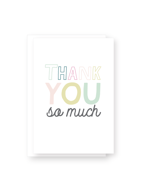 Wholesale Thank You So Much Card Pack
