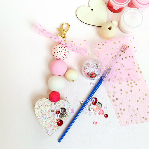 DIY Valentine Keychain Craft Kit
