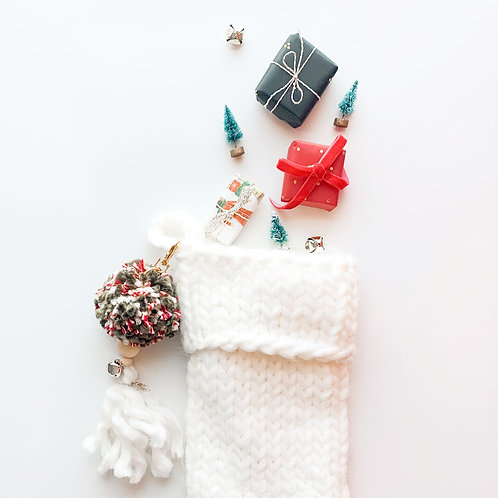 Traditional Pom Pom Stocking Charm