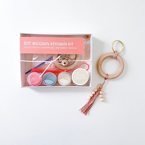 Wholesale DIY Wooden Ring Keychain Kit