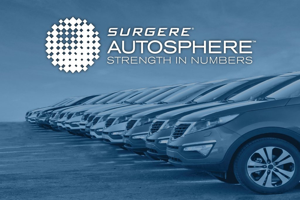 Surgere AutoSphere Strength in numbers row of cars