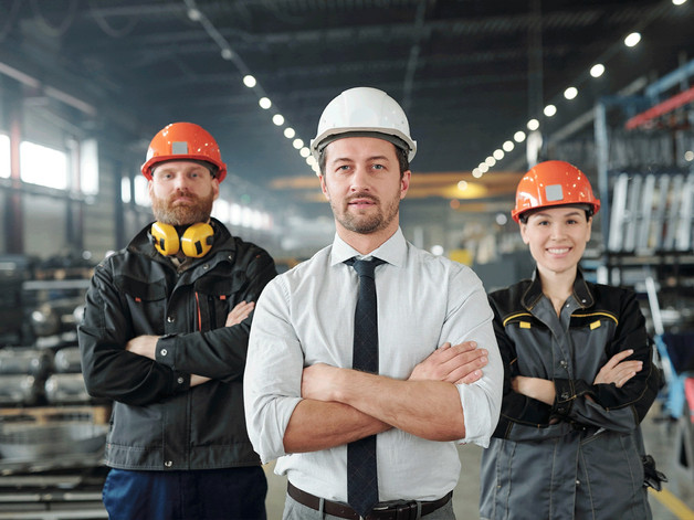 Production employees & upper management