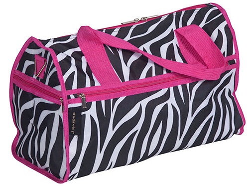 This Large Zebra Print Duffle Bag With Pink Trim Can Fit Everything From Dance Shoes And Leotards To A Change Of Clothes For After Class