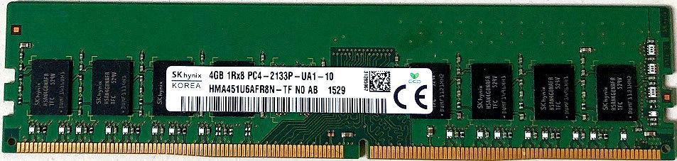 Hynix 4GB DDR4 1Rx8 Pc4-2133p-UA1-10 HMA451U6AFR8N-TF Desktop RAM Memory