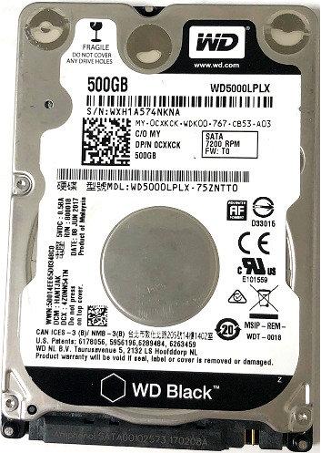 Western Digital WD5000LPLX-75ZNTT0  500GB 7200RPM SATA 6.0 Gbps 2.5 32MB Cache