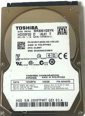 Toshiba MK5061GSYN  500GB 7200RPM SATA 3Gbps 16MB Cache 2.5-inch Internal Hard D