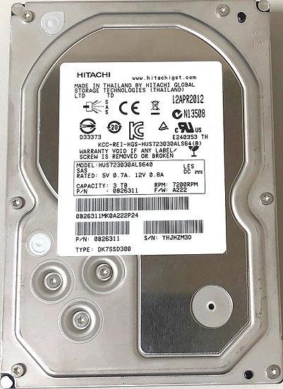 Hitachi Ultrastar 3 TB 7K3000 0B26311 / HUS723030ALS640 SAS Hard Drive