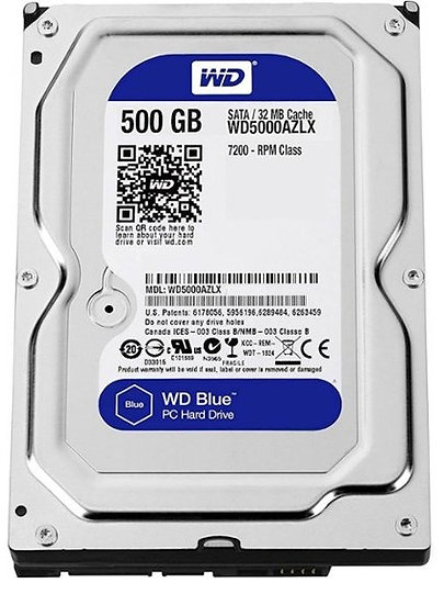 Western Digital Blue 500GB Internal SATA Hard Drive for Desktops