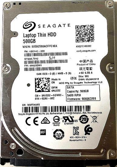 Seagate  ST500LT012  500GB 5400RPM SATA 3.0 Gbps 2.5 16MB Cache Hard Drive