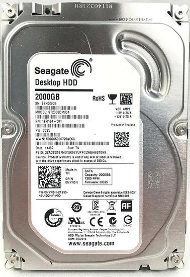 Seagate Barracuda 2TB 7200RPM SATA 6Gbps 64MB Cache 3.5-inch Internal Hard Drive
