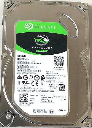 """Seagate Barracuda 500 GB Internal HDD - 3.5"""" - ST500DM009 - SATA 6Gb/s - 7,200 r"""