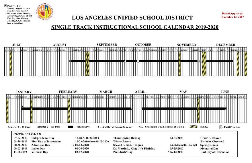 School Calendar- Graphic - 2019-2020 Boa