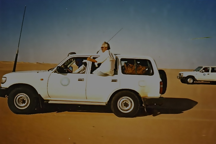 Rolando no deserto