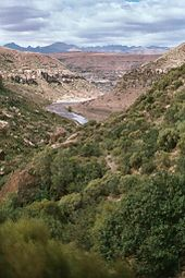 Um vale no Lesotho