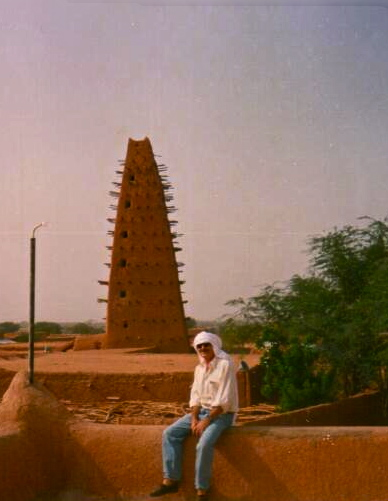Num terraço em Agadez