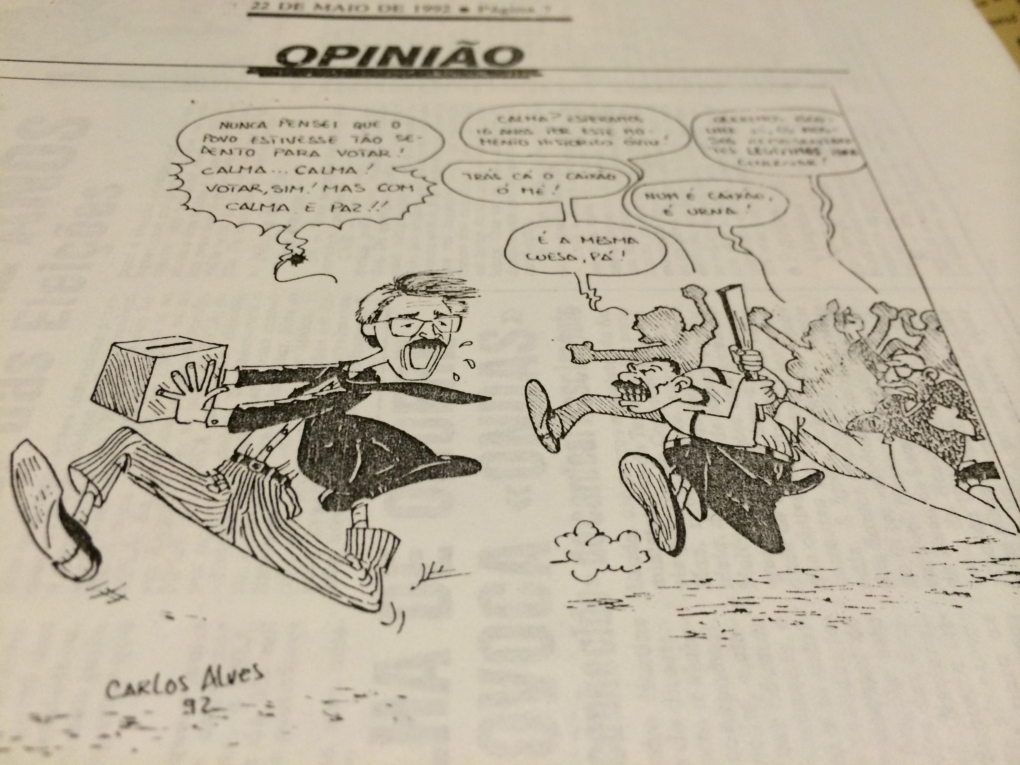 Cartoon Jornal de Angola
