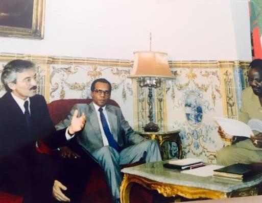 Com Savimbi e Caetano de Sousa