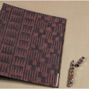 Hand printed fabric file