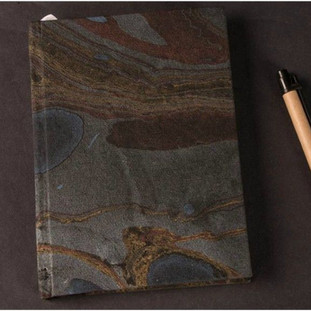 Marbled paper handmade paper diary