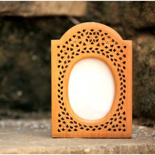 Hand carved photo frame