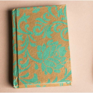 Screen printed handmade paper diary