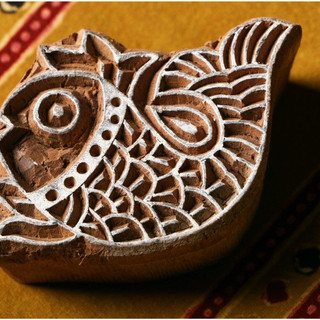 Hand carved printing stamp